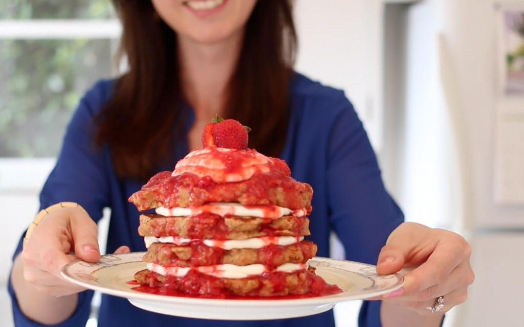 Strawberry, Pancakes, Cheesecake, Gemma Stafford, Bigger Bolder Baking, Recipes