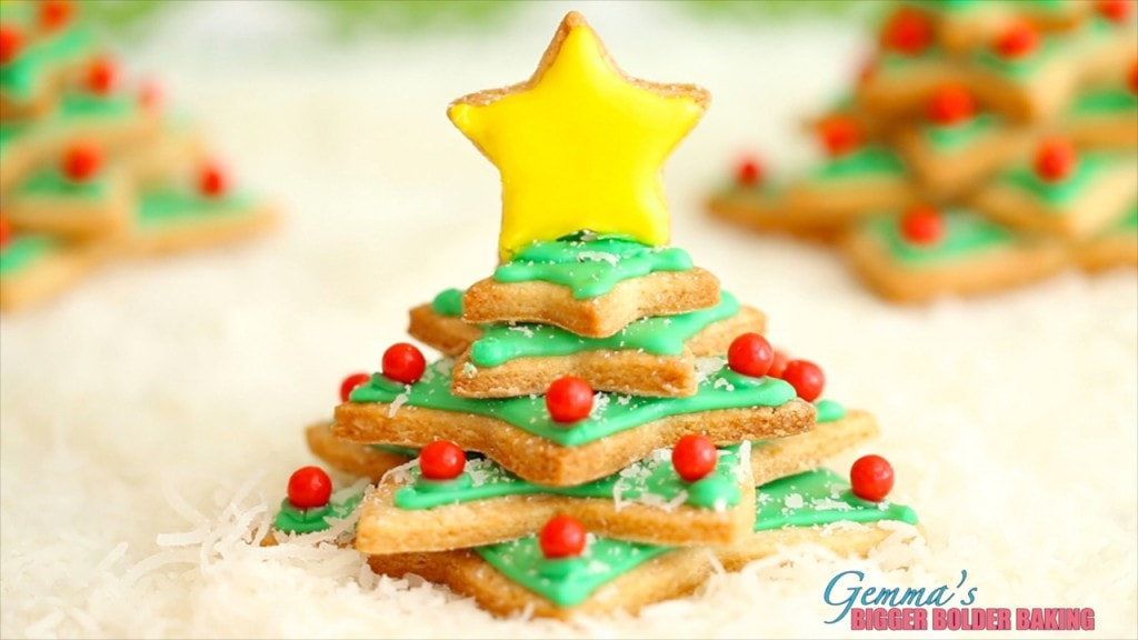 Christmas Tree Cookies - thee most festive cookies you will ever eat.