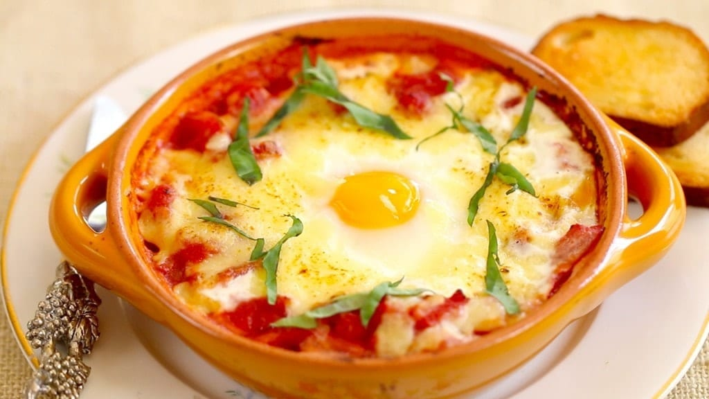 Baked Eggs Italian Gemma Stafford Breakfast Bold Baking Recipes