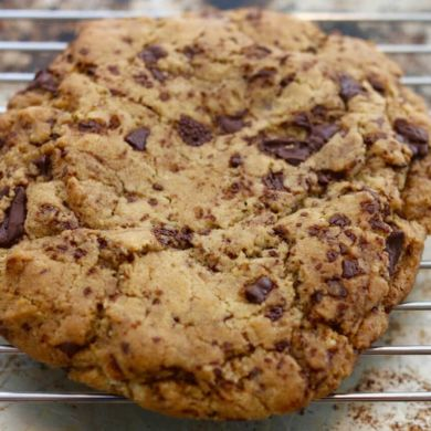 Single-Serving Giant Chocolate Chip Cookies