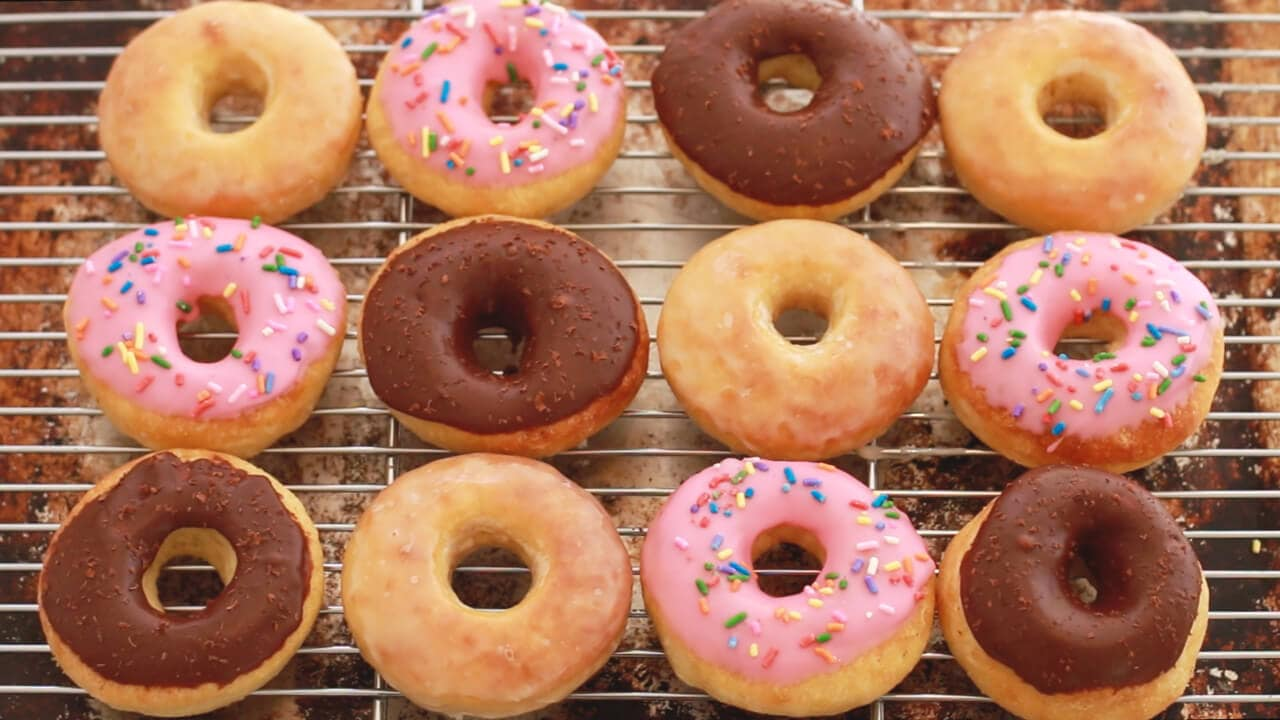 Donuts, Homemade Donuts, No-Knead Donuts, Gemma Stafford, Bigger Bolder Baking, Homemade Dunkin' Donuts, Homemade Krispy Kreme Donuts, Recipes
