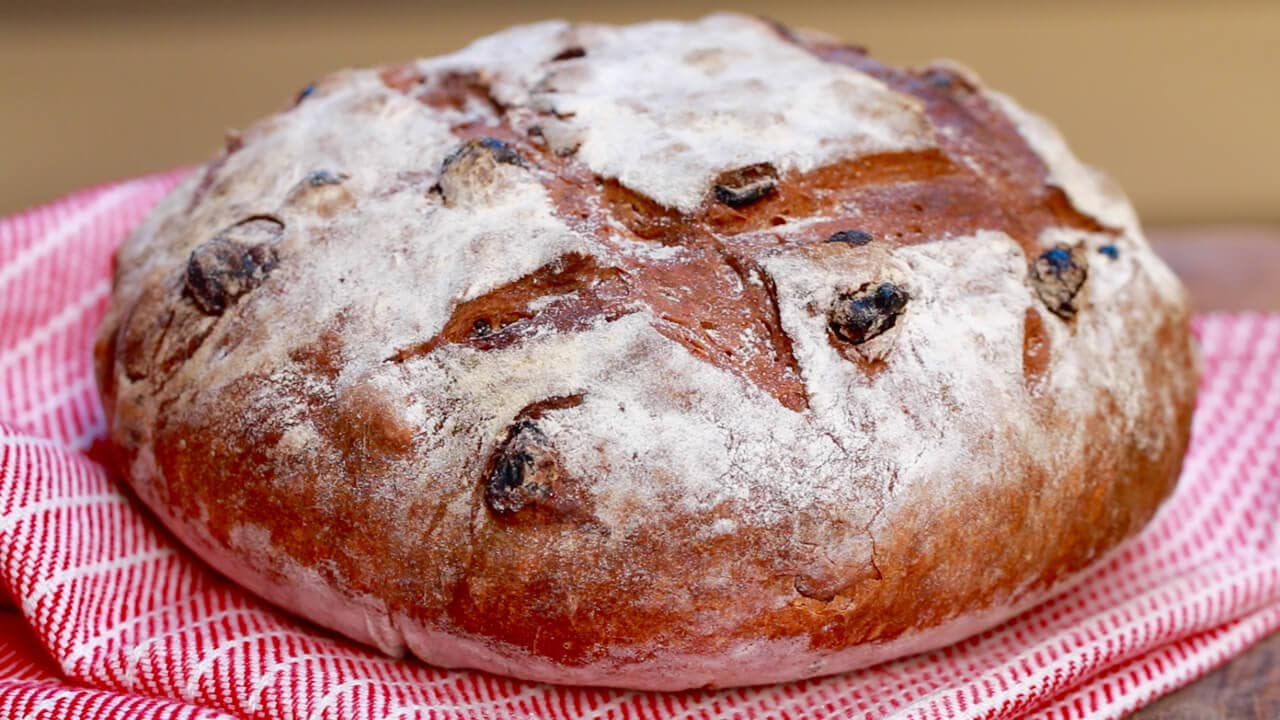 No-Knead Cinnamon Raisin Bread - A beautiful loaf that could not be simpler to make.