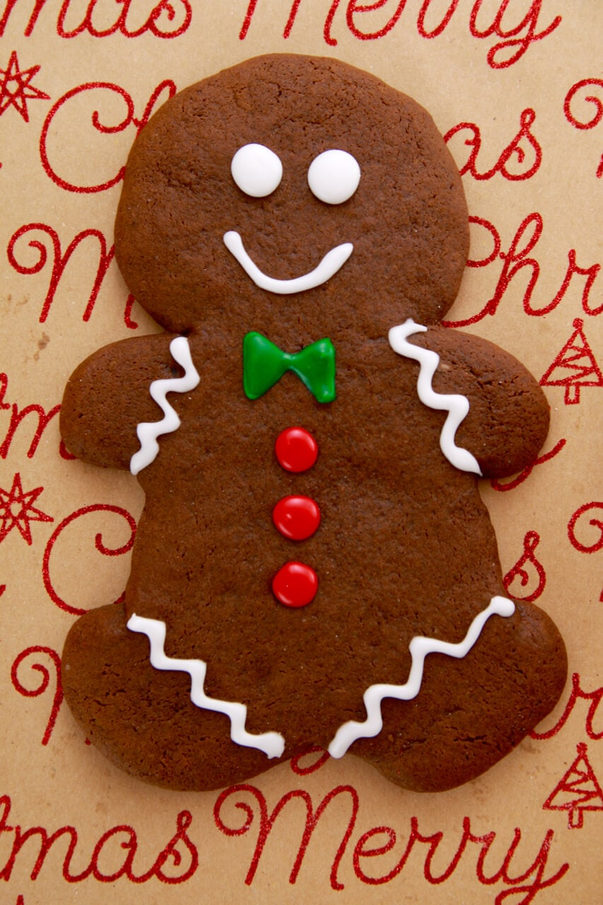 Christmas Gingerbread Cookies Recipe.Gingerbread Man Single Serving Holiday Cookies