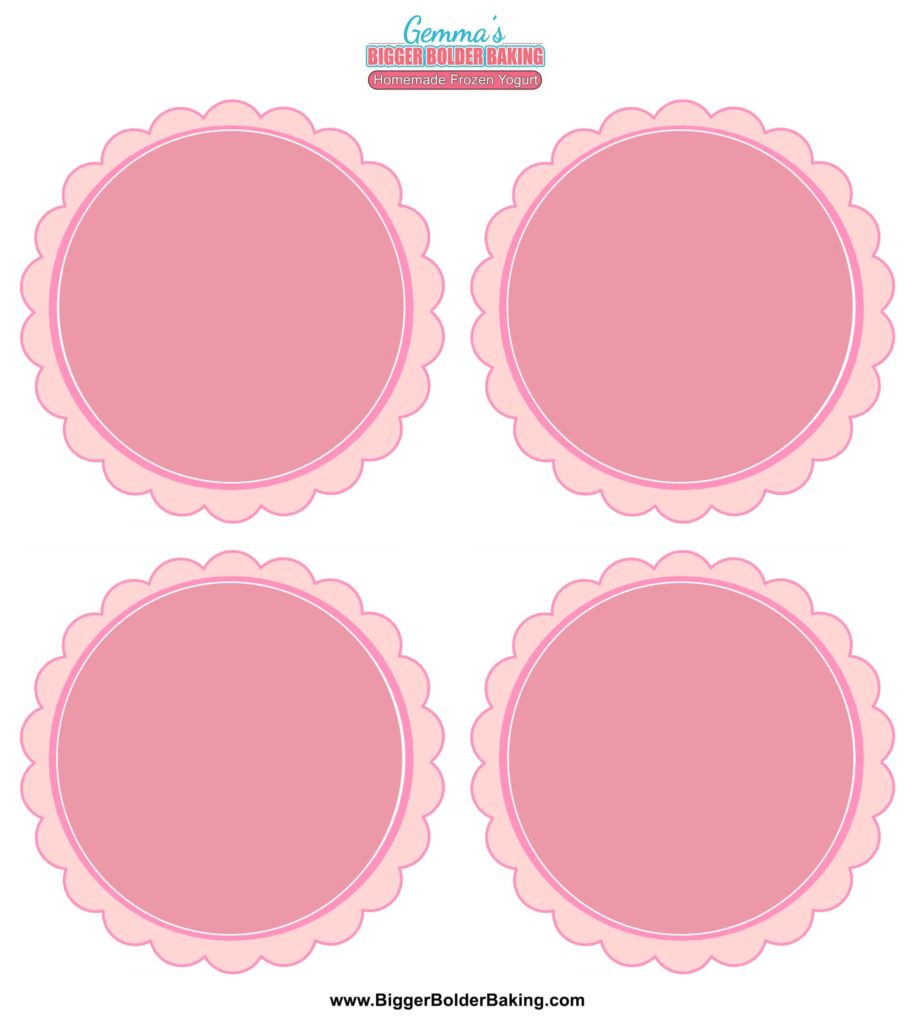 BBB108 Homemade Frozen Yogurt Labels Template