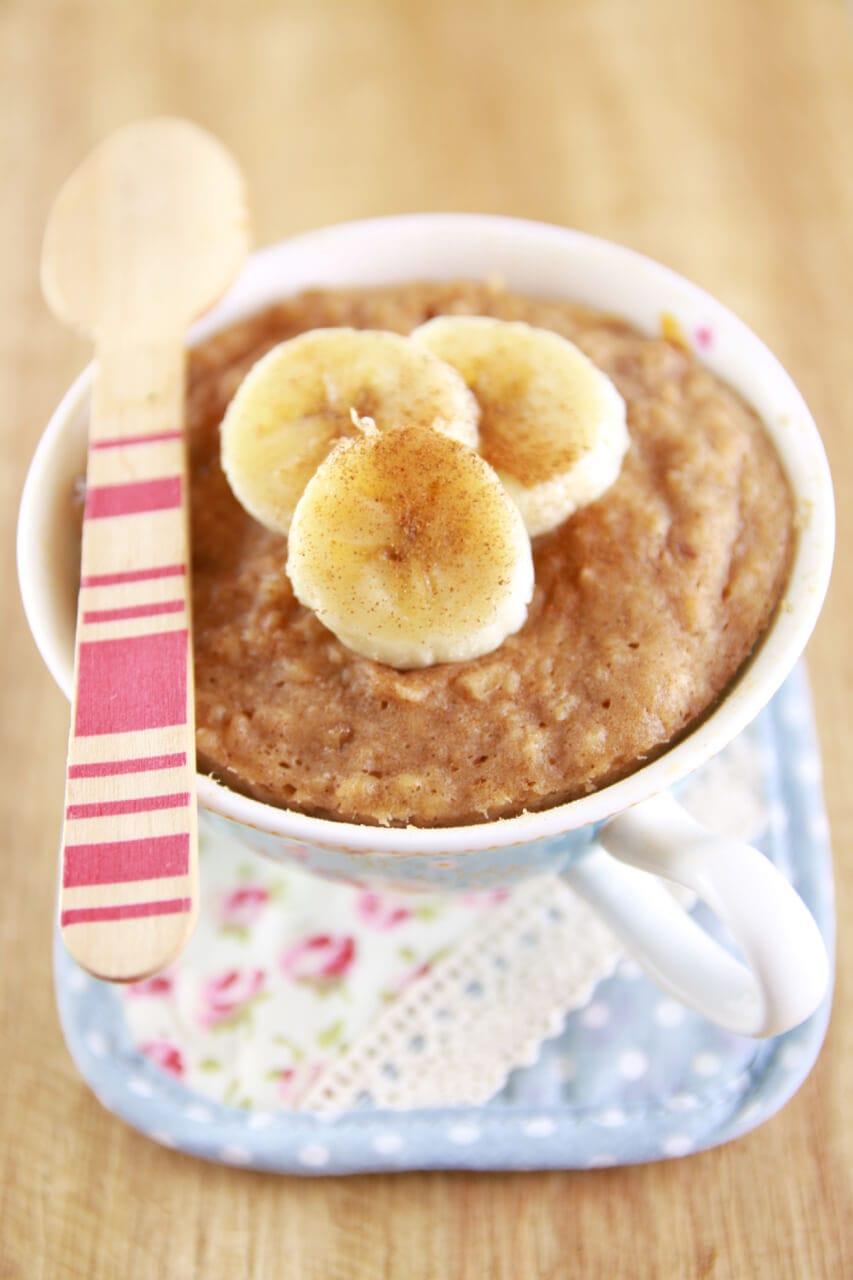 Microwave Peanut Butter Banana Mug Cake Bigger Bolder Baking