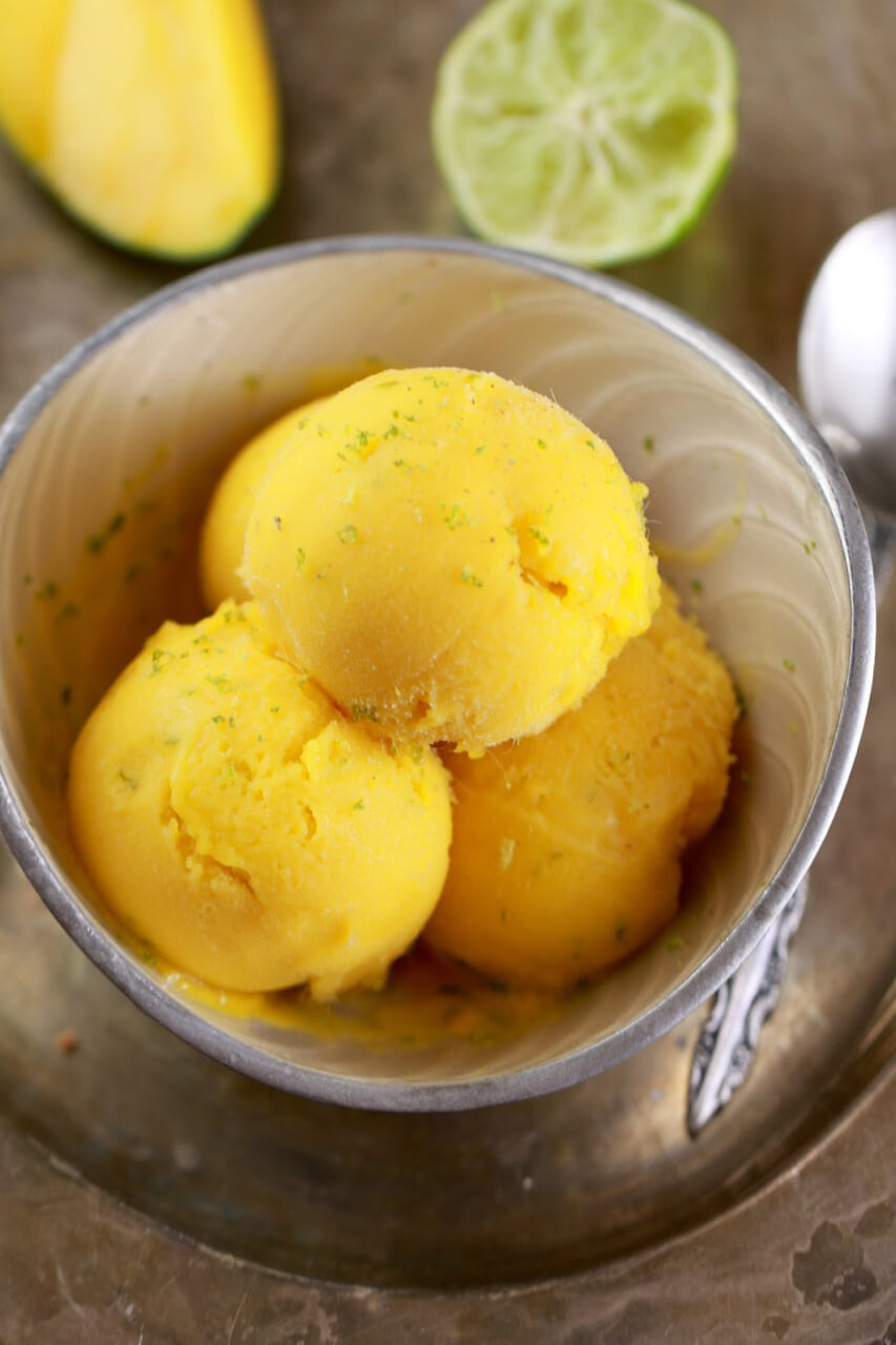 Mango and lime frozen yogurt in 5 minutes no machine gemmas 5 minute mango and lime frozen yogurt no machine frozen yogurt no ccuart Gallery