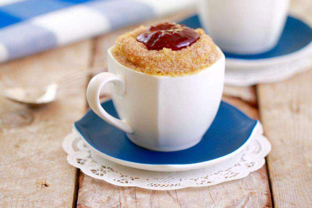 Jelly Donut in a Mug (MugNut) : Move over Cronut, step aside Duffin, there's a new nut in town: a Mugnut to be exact, or a Jelly Donut made in a mug. And it's INCREDIBLE!