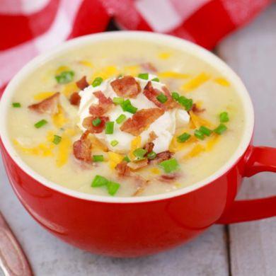 The Easiest Potato Soup Recipe (In A Mug!)