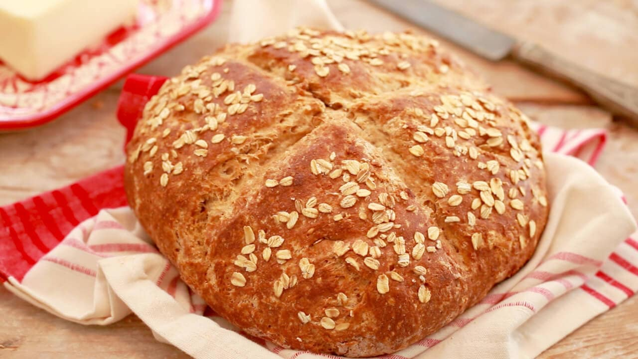 Traditional Irish Soda Bread (Brown Bread)- My Mammies recipe for brown bread. This whole wheat bread is nutritious and fast to make.