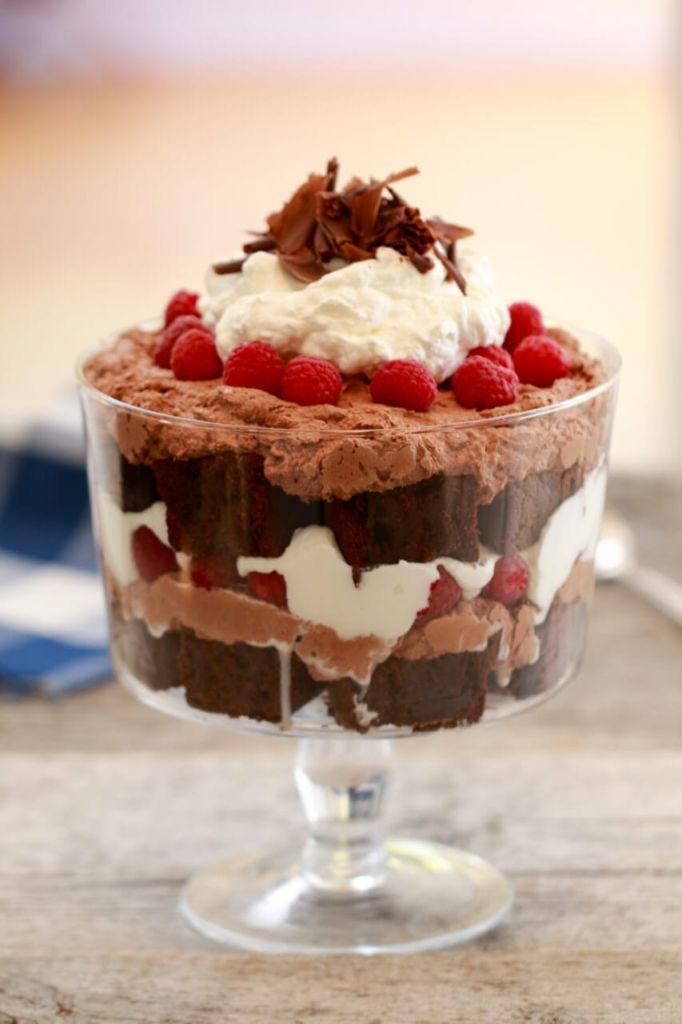 Chocolate Fudge Brownie Amp Raspberry Trifle Bigger Bolder Baking