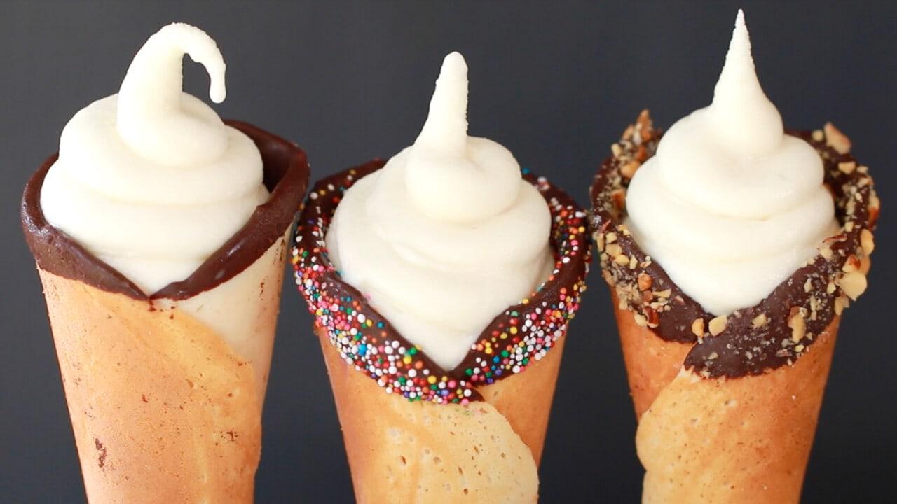 Homemade Soft Serve Ice Cream, Soft Serve, Soft Serve Ice Cream, Ice Cream, Homemade Ice Cream, Gemma Stafford, Bigger Bolder Baking, Recipes, Desserts, Frozen Desserts, Summer Frozen Desserts