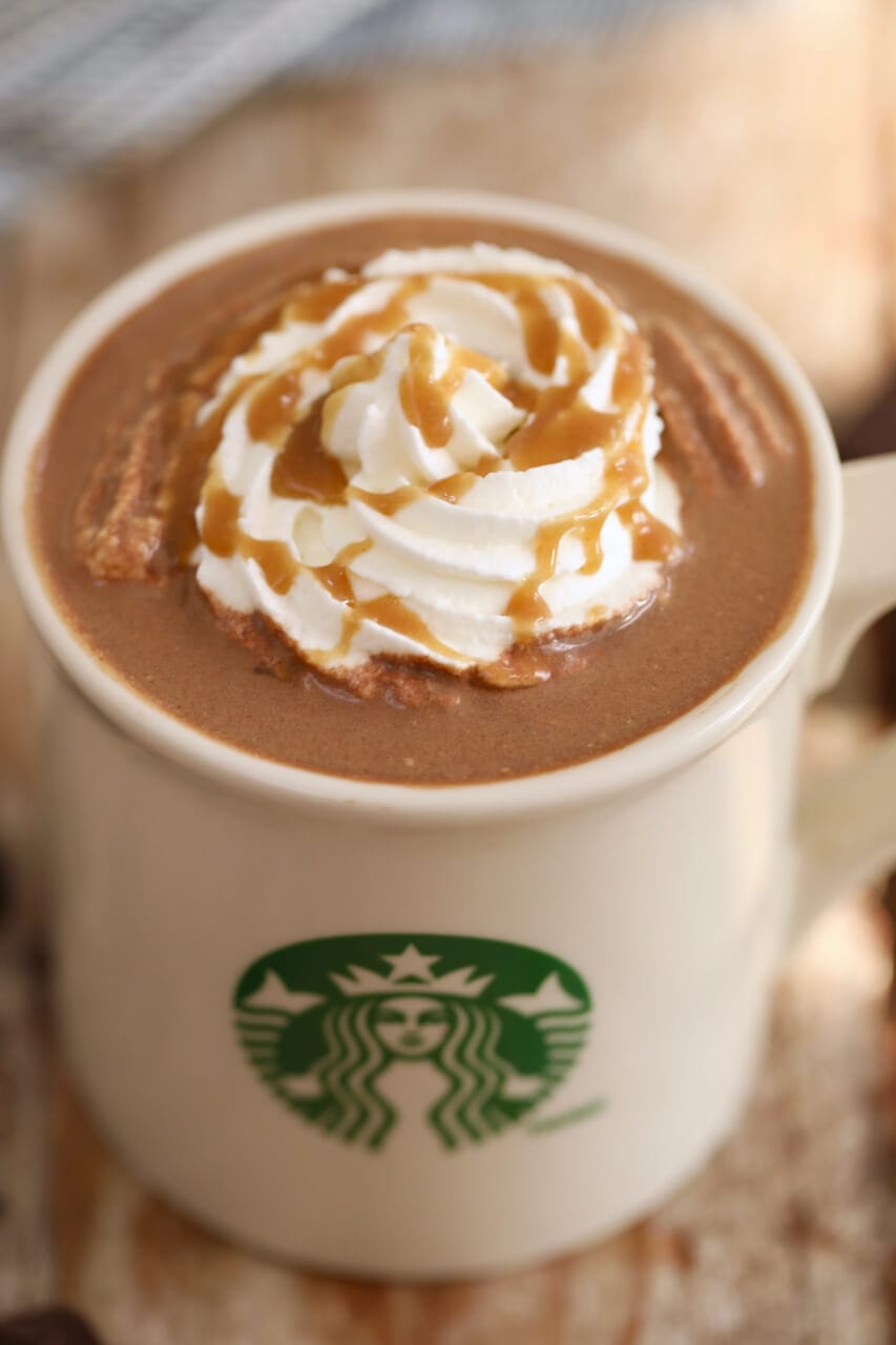 Homemade Starbucks Salted Caramel Hot Chocolate - Gemma's Bigger ...