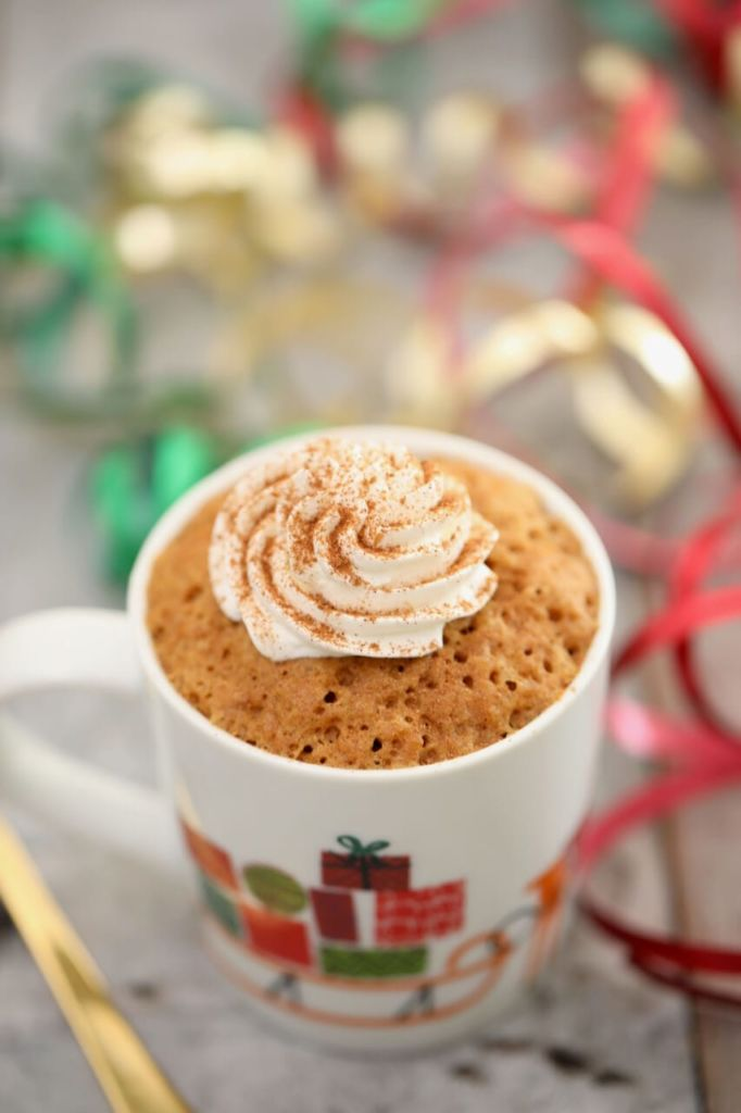 Gingerbread Mug Cake - Every mouthfull tastes like Fall, the only regret is you didn't make two!