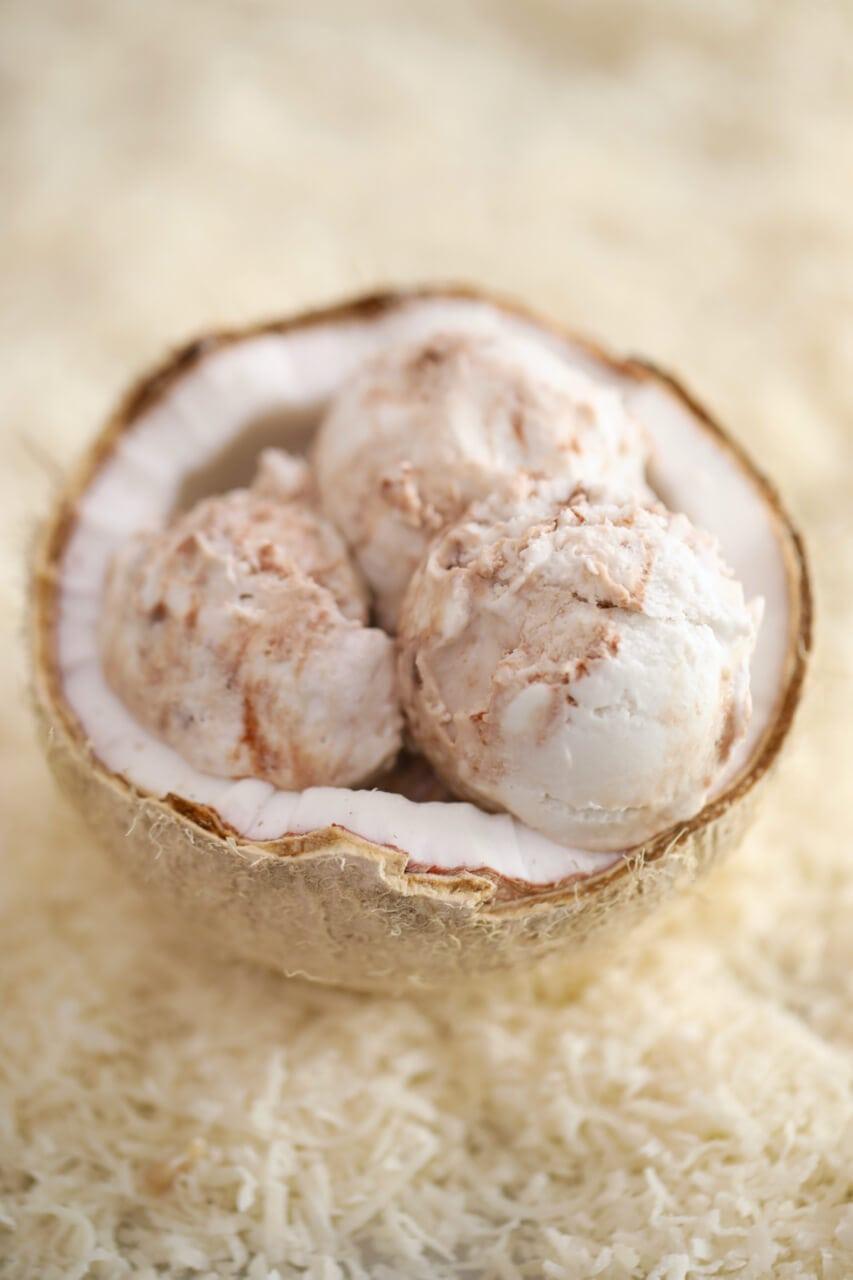 Dairy free coconut ice cream, Dairy free ice cream, coconut ice cream, Dairy free ice cream recipe, coconut ice cream recipe, ice cream recipes dairy free, how to make dairy free ice cream, no machine ice cream, 2 ingredients ice cream, ice cream without a machine, homemade dairy free ice cream, homemade coconut ice cream, nut milk ice cream recipes