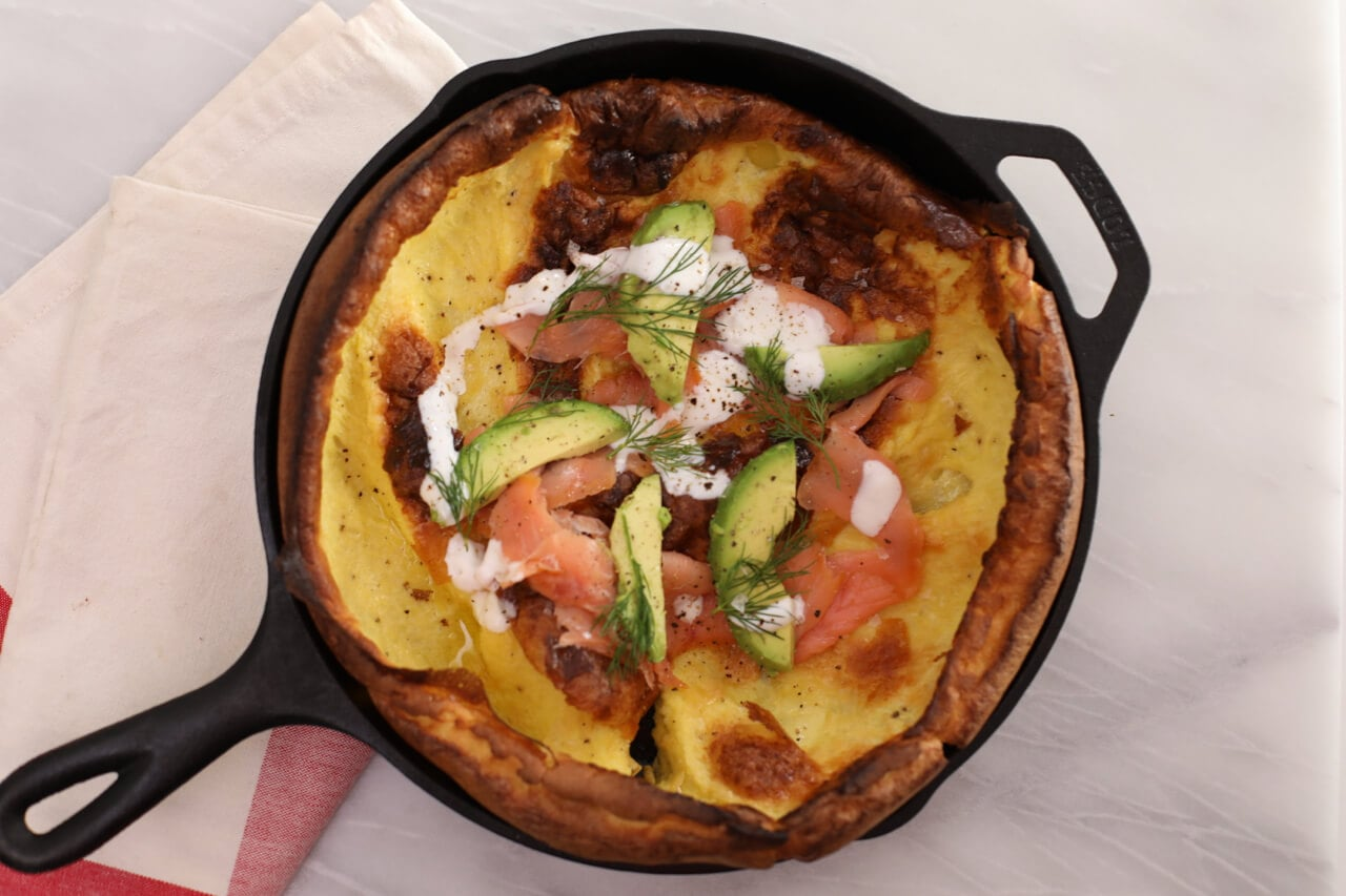 Savory Dutch Baby- Shake up your regular breakfast routine with this Savory Dutch Baby