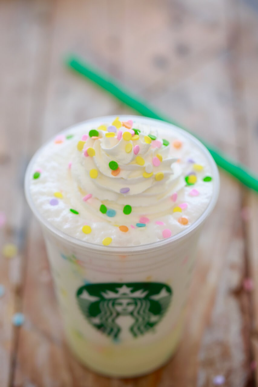 Starbucks Birthday Cake Frappuccino Secret Menu Gemmas Bigger