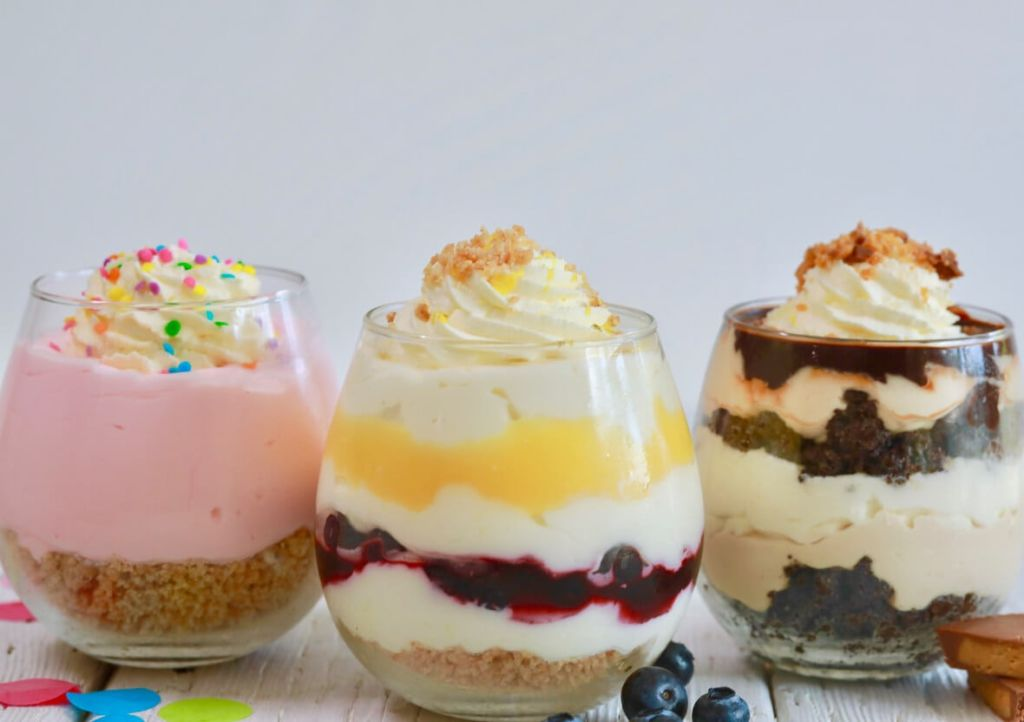 Single Serve No Bake Cheesecakes- Make just one or multiply the recipes for dinner parties!!