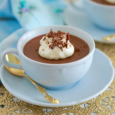 Vegan Chocolate Pudding {Paleo & Dairy Free}
