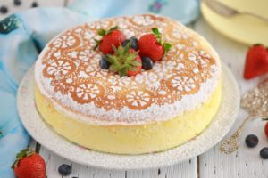 Japanese Cheesecake Recipe - Make a soft, jiggly Japanese Cheesecake with my simplified method!