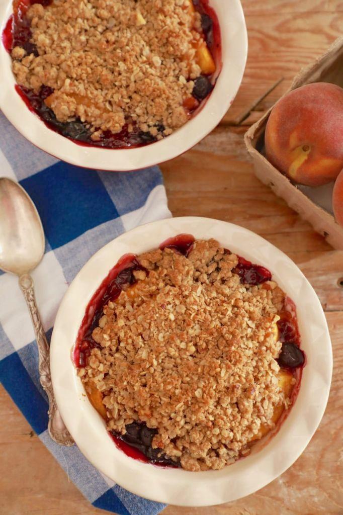 Peach and Blueberry Crisp Recipe
