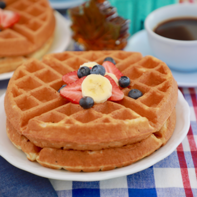 The Perfect Buttermilk Waffles