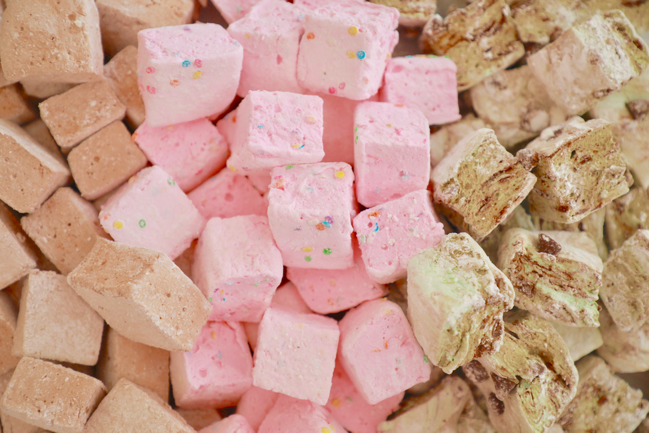 Chocolate, Mint Chocolate Chip, and Birthday Cake Marshmallows!