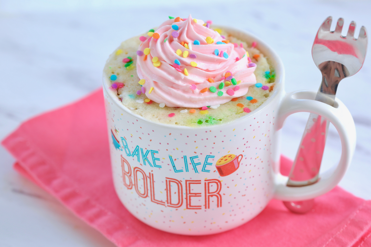 Celebration Vanilla Mug Cake Recipe Gemma S Bigger Bolder Baking
