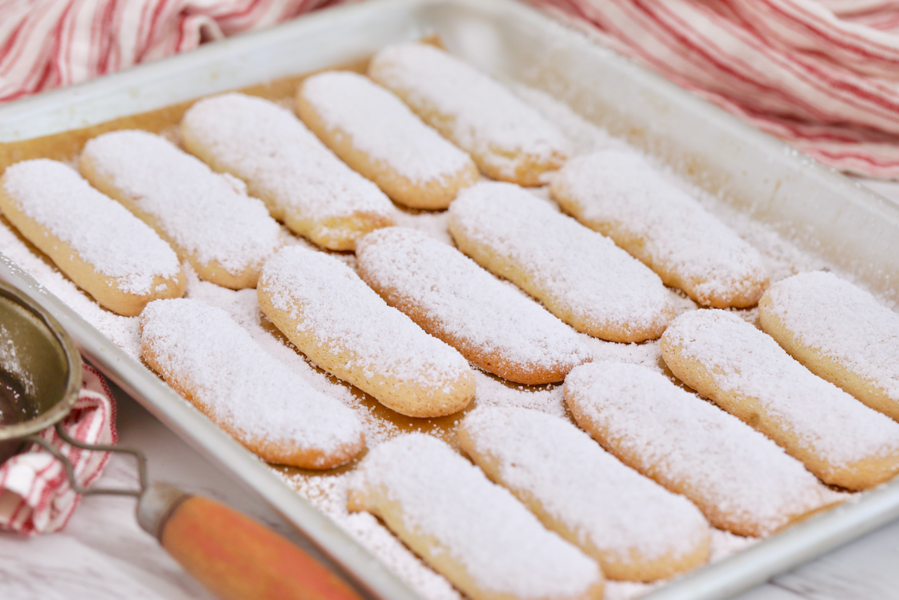 Golden, sweet, and delicate Homemade Ladyfingers.