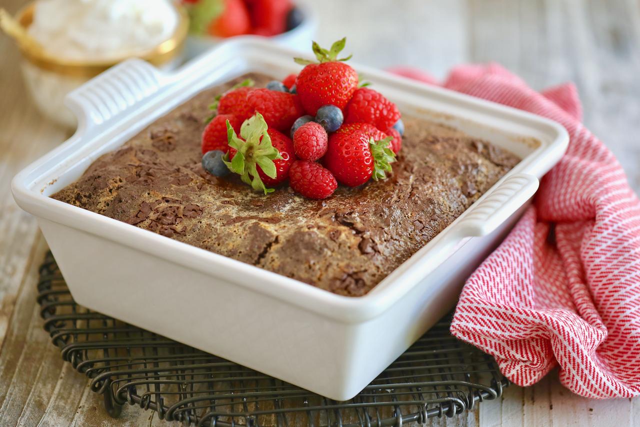 Brownie Bread Pudding Recipe