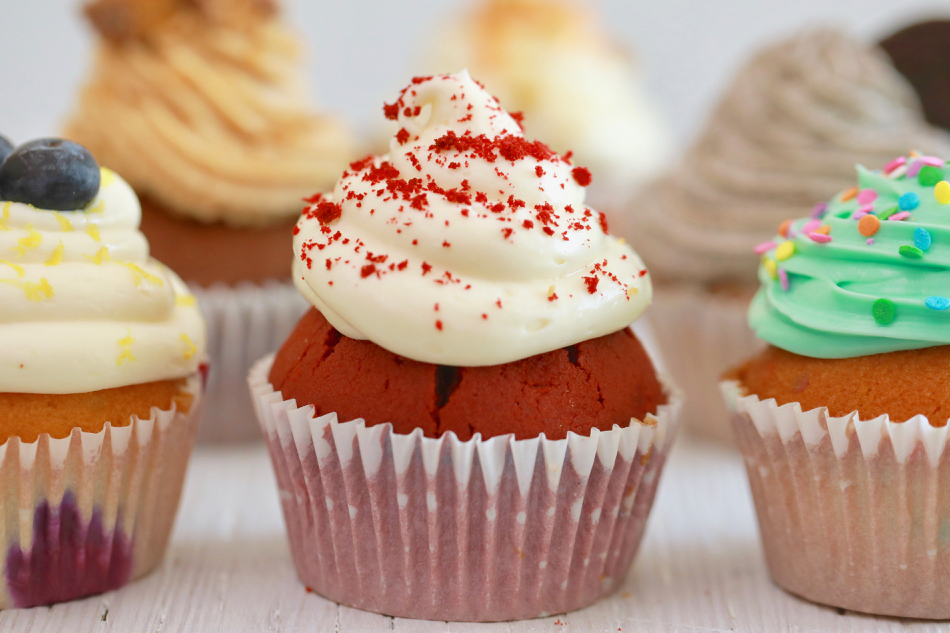 Six different flavors of crazy cupcakes, one cupcake recipe that can be any flavor you want!