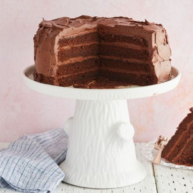 Best-Ever Chocolate Cake with Whipped Dark Chocolate Ganache