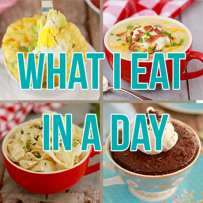 What I Eat In A Day If I Just Eat Mug Meals!