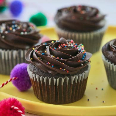 Incredible Chocolate Cupcakes with Chocolate Fudge Frosting