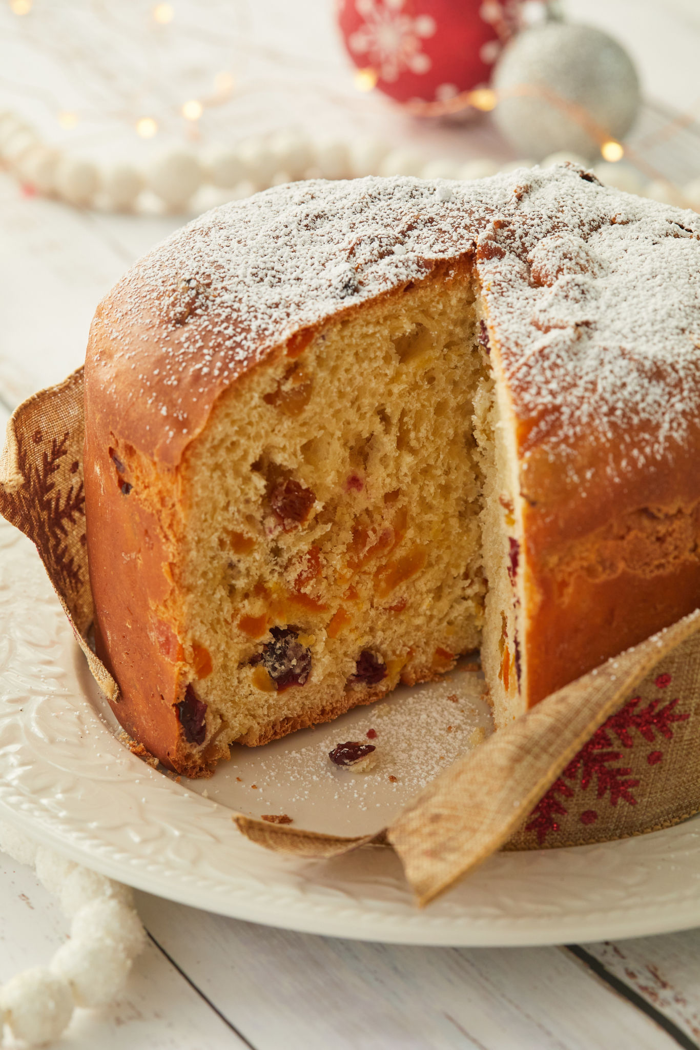 The inside of my Panettone after baking.