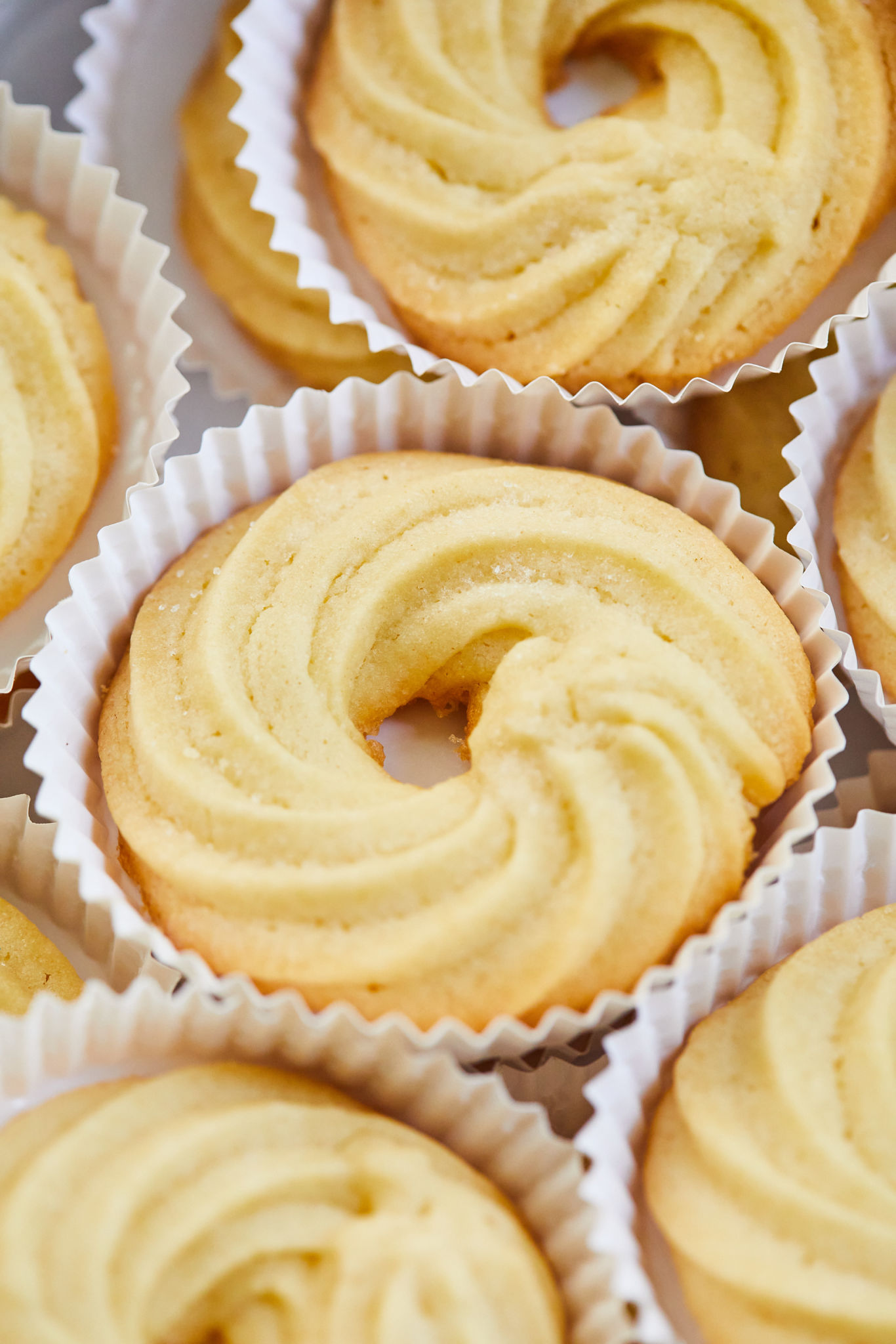 A close-up of my Danish Butter Cookies.