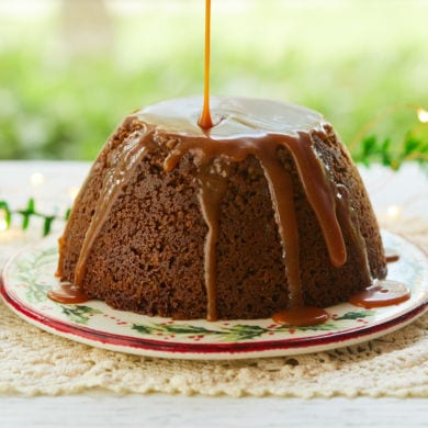 Homemade Steamed Gingerbread Pudding