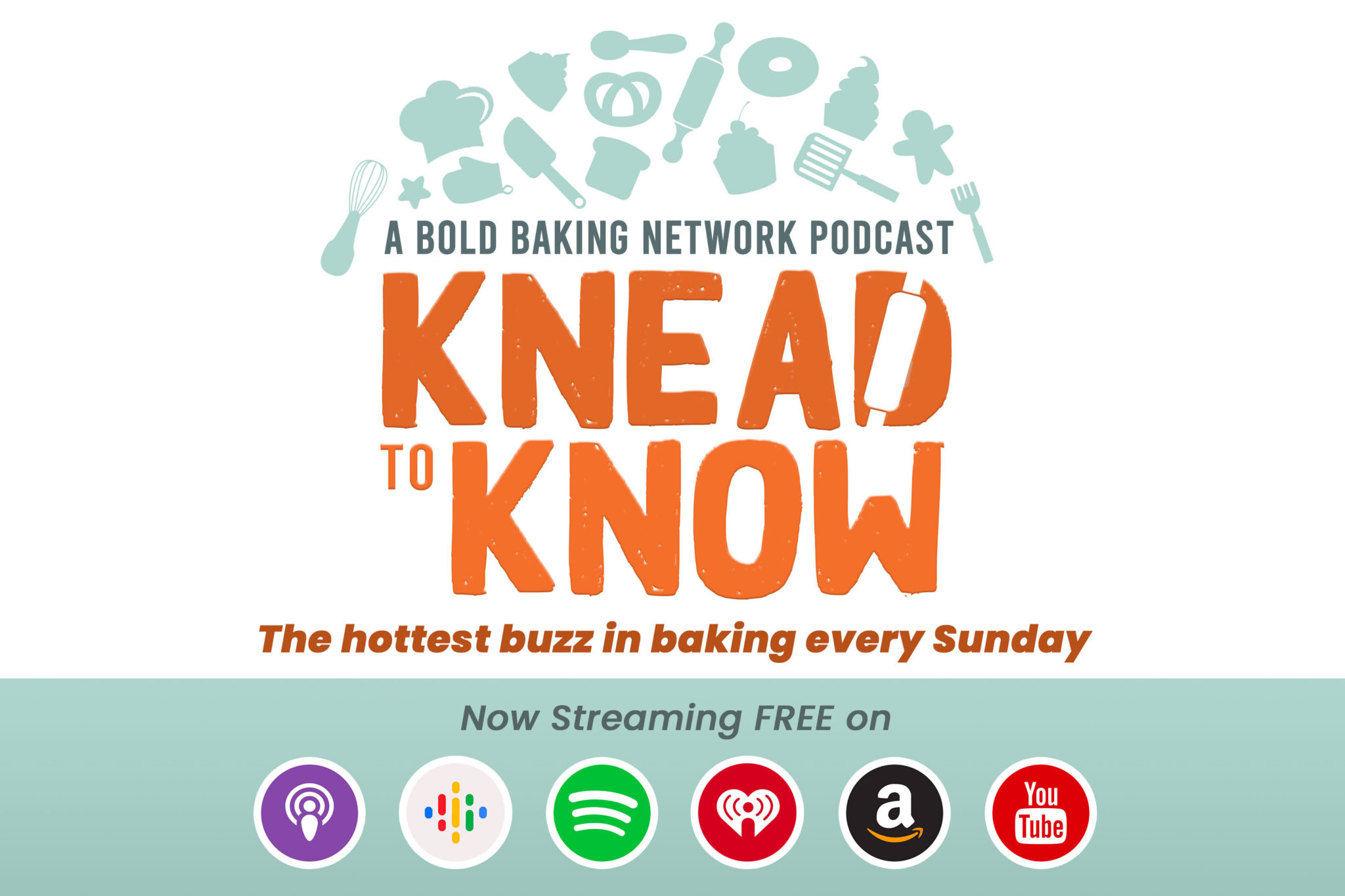 Ad for the Knead to Know Podcast