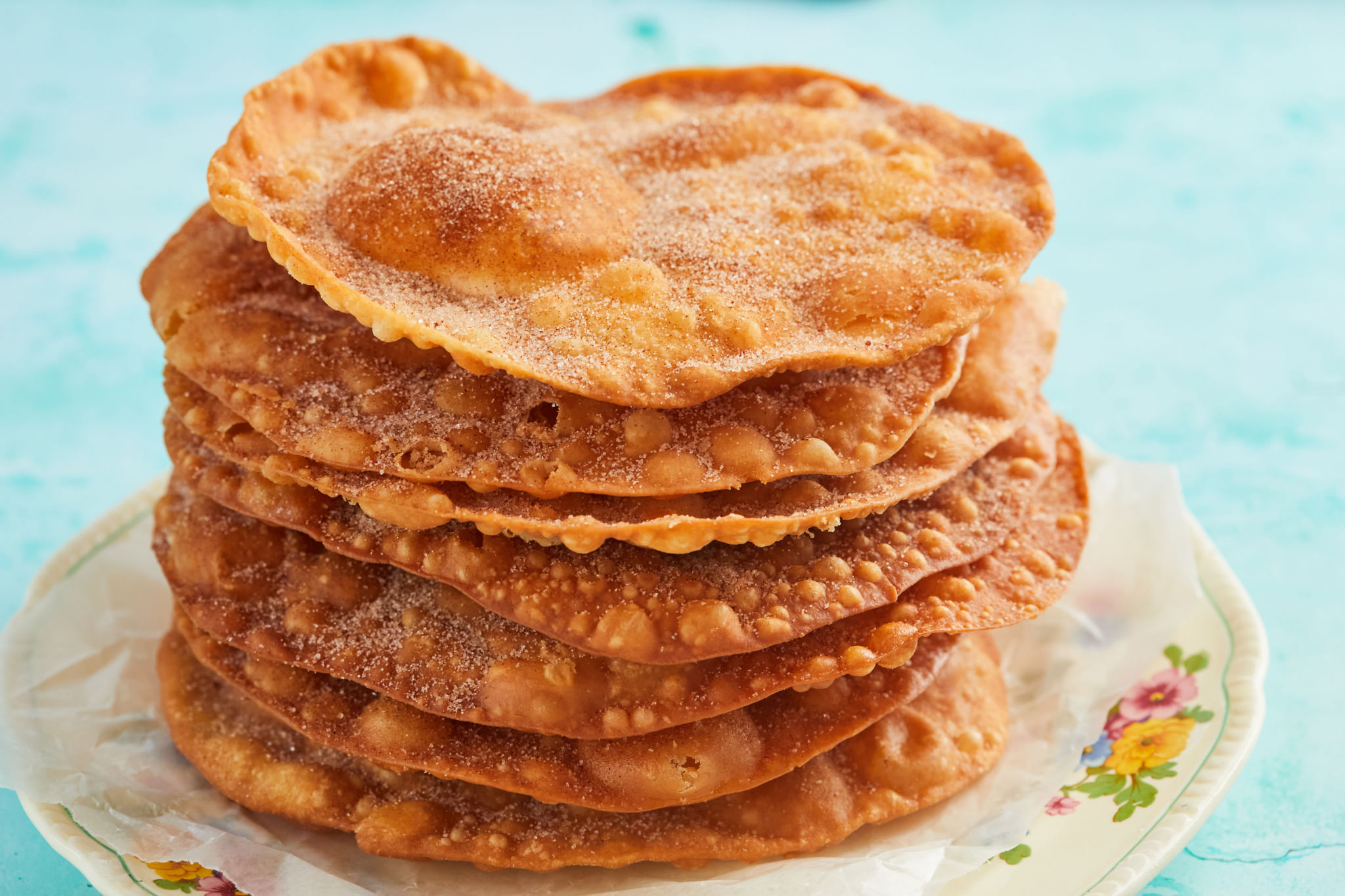 A gorgeous stack of Mexican buñuelos.