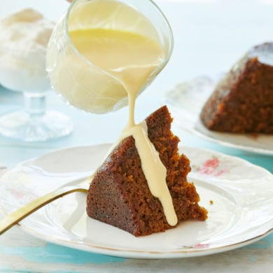 Old Fashioned Steamed Carrot Cake Pudding