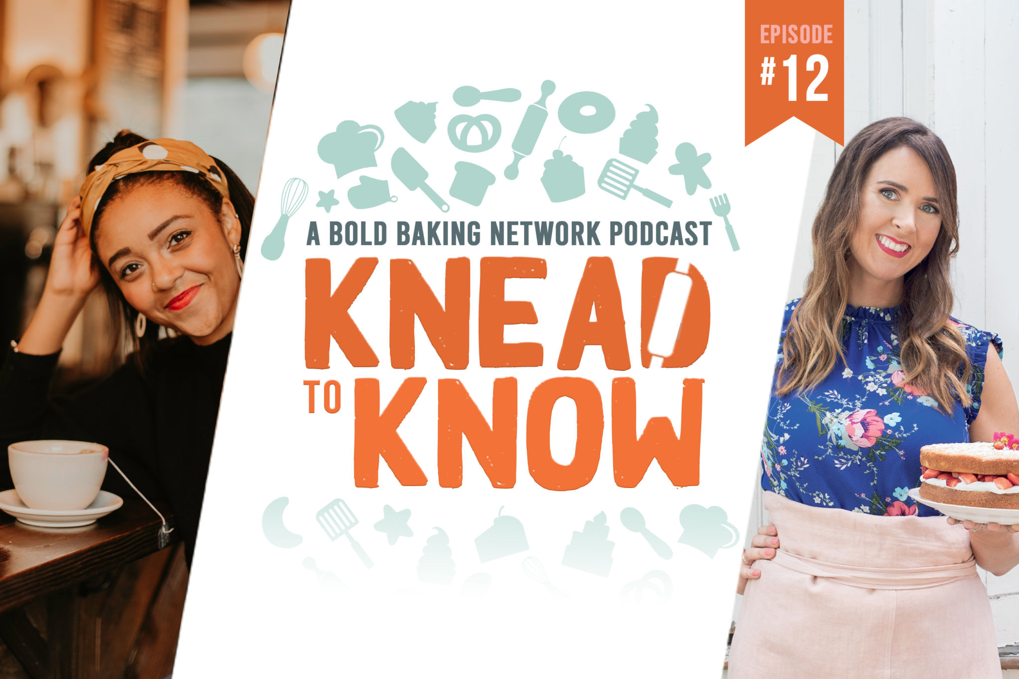 Knead to Know logo flanked by Mia Brabham and Gemma Stafford
